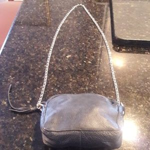 ZARA pebble leather crossbody bag.
